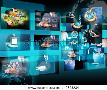 Television and internet production .technology and business concept - stock photo