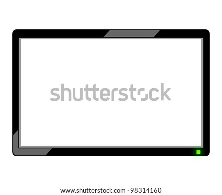 Television illustration. - stock photo