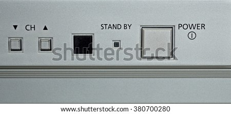 television pressed buttons in old version  - stock photo