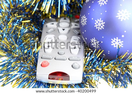 Television remote control.christmas - stock photo