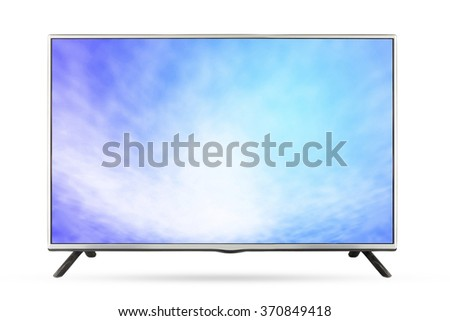 Television sky or monitor landscape isolated on white background, use clipping path - stock photo