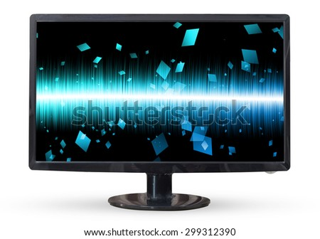 Television sky or monitor PC landscape isolated on white background. - stock photo