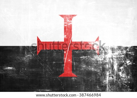 Templar knight flag - stock photo