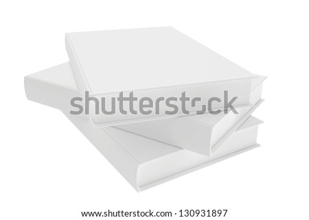 template books on a white background