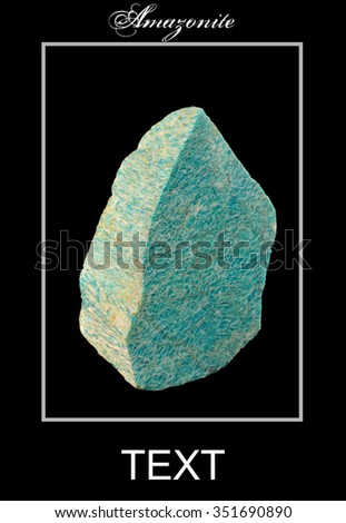 Template. Calendar of minerals and rocks. Mineral  Amazonite. - stock photo