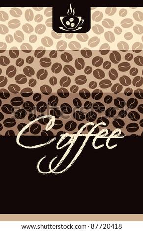 Template Coffee shop menu - stock photo