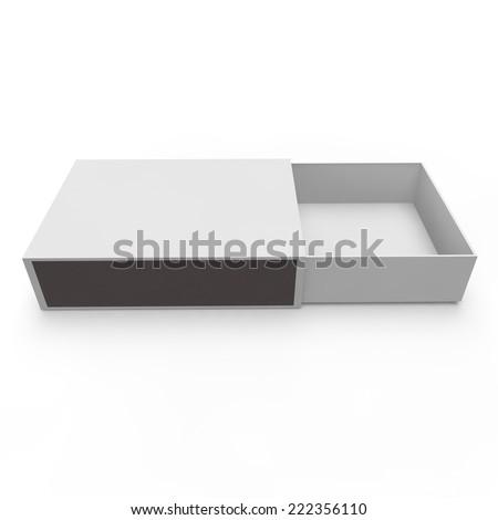 Template - empty matchbox. Isolated white background - stock photo