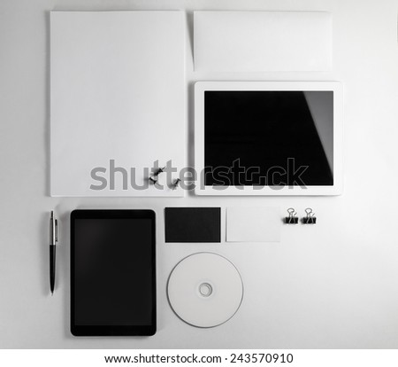 Template for branding identity for designers. Top view.  - stock photo