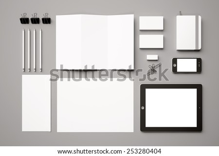 Template for branding identity. For graphic designers presentations and portfolios. - stock photo