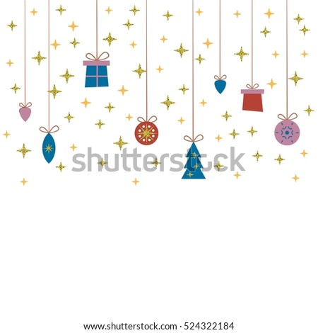 Template for Christmas cards, invitations, backgrounds and more with space for text. Raster version.