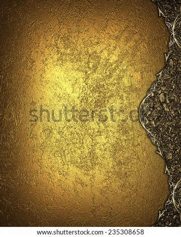Template for design. Grunge gold background with a nice edge. Template Design. - stock photo