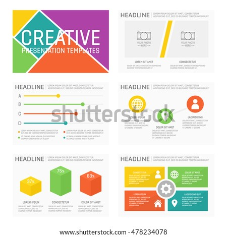 Template for multipurpose presentation slides with graphs and charts. Elements, chart, graph, brochures