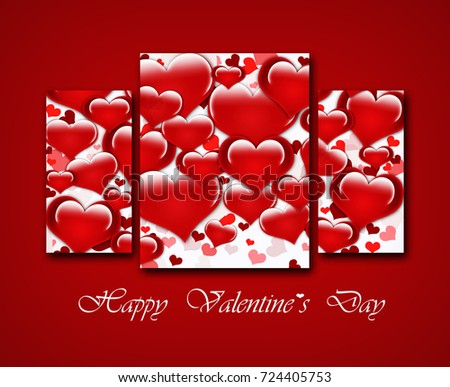 Template Valentine Greetings Card Illustration 724405753 – Valentine Greetings Card