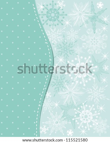 Template frame design for xmas card - stock photo