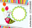 Template greeting card - stock photo