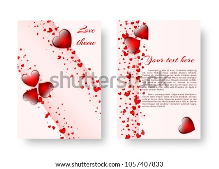 Template Brochure Romantic Style Valentines Day Stock Illustration