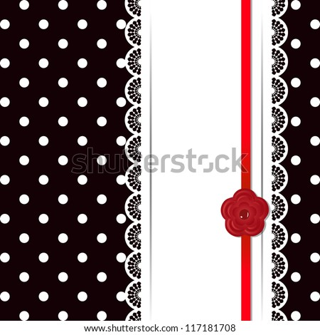 template of greeting card (raster version of the vector) - stock photo