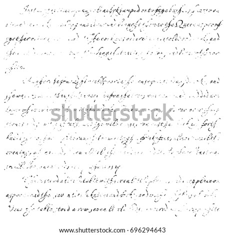 template old letter text illegible handwriting stock illustration