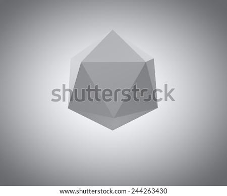 template polygon hexagon - stock photo