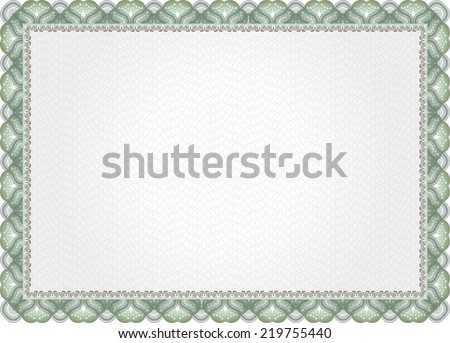 Template that is used in certificate, currency and diplomas  - stock photo