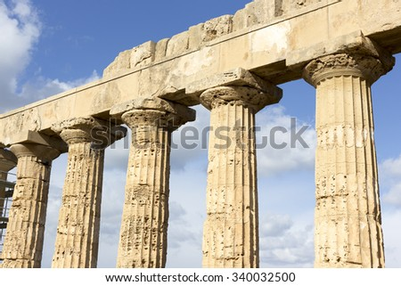 Temple at Selinunte in Sicily, Italy - stock photo