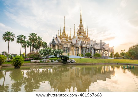 Temple at the sunset time - stock photo
