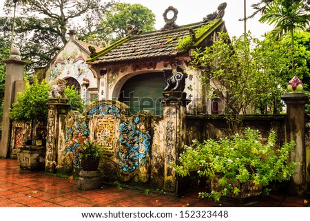 Temple at the Vietnam - stock photo