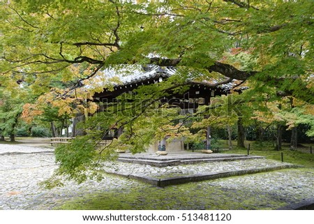Temple Behind Maple Leaves 2
