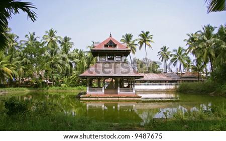 temple complex in kochi, kerala, india - stock photo