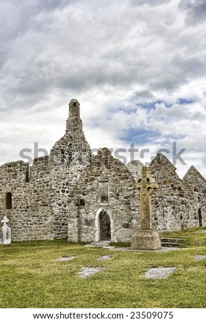 Temple Finghin at Clonmacnoise, Ireland.
