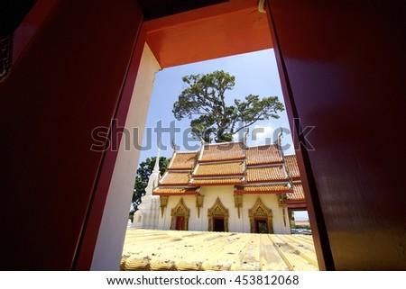 Temple in Ayutthaya, Thailand - stock photo