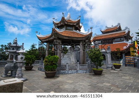 Temple in Ba Na Hill, Da Nang, Vietnam