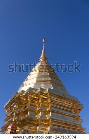 temple  in chaimai thailand - stock photo