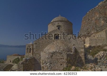 temple in greece - stock photo
