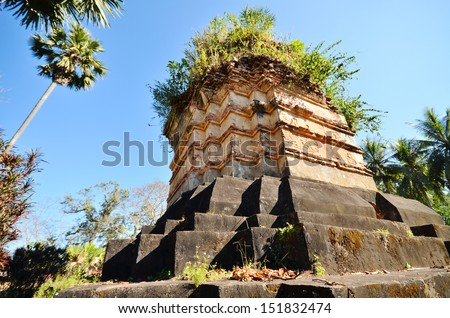 Temple in Hongsa District, Lao PDR  - stock photo