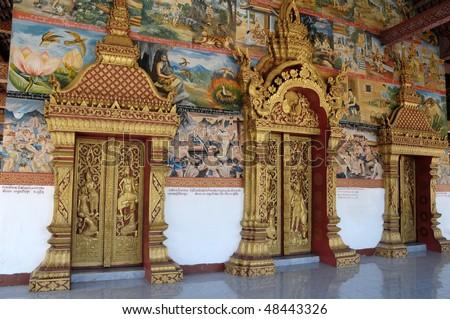 Temple in Luang Prabang,Laos - stock photo