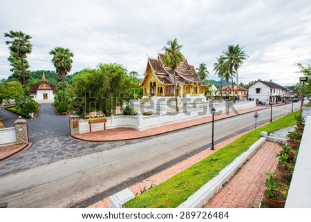Temple in Luang Prabang Royal Palace Museum, Laos - stock photo