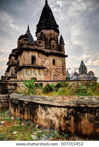Temple in Orchha, India