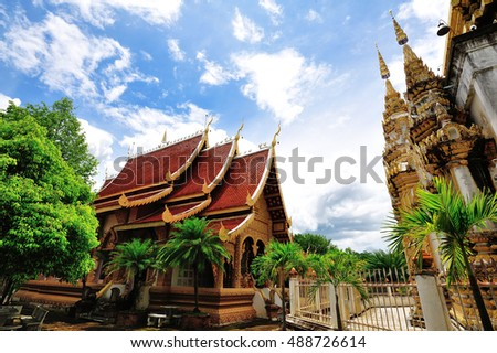 temple located in the Chiang-Mai, Thailand