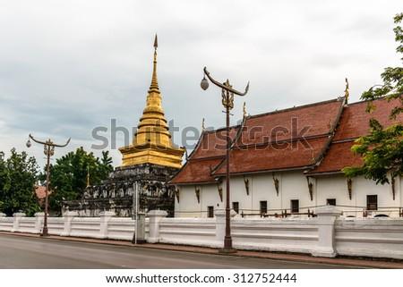 temple, Nan province, Thailand - stock photo