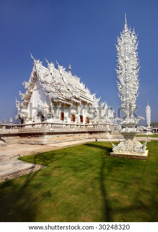 temple near Chiang rei - stock photo