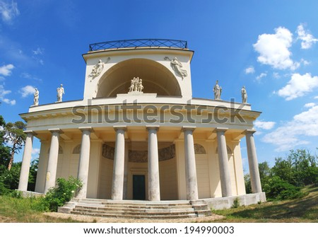 Temple of Apollo in Lednice Valtice complex. UNESCO in the Czech Republic