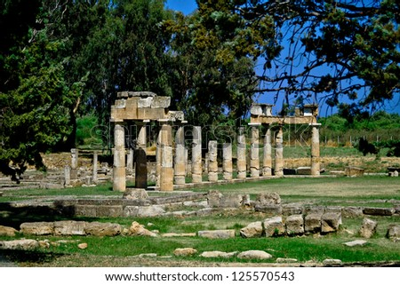 Temple of Artemis of Vravrona at Attica, Greece