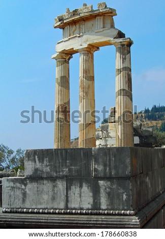 Temple of Athena, Delphi, Greece - stock photo