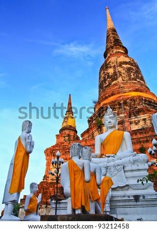 Temple of Ayuthaya, Thailand, - stock photo