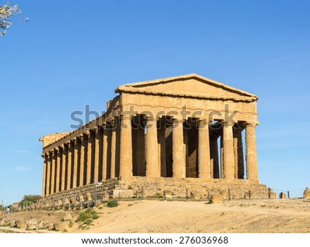 Temple of Concordia, Valley of Temples, Agrigento. Front view