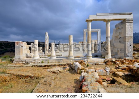 Temple of Demeter, Naxos island, Greece - stock photo