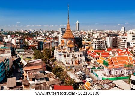Temple of Golden Buddha(Wat Traimit), Bangkok - stock photo