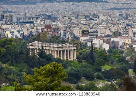 Temple of Hephaestus,Athens,Greece - stock photo