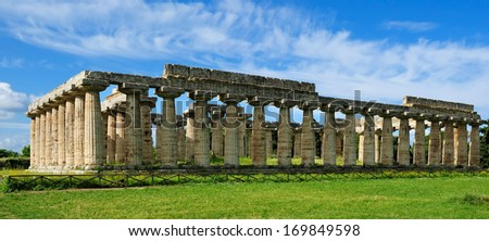 temple of Hera, Paestum, Italy